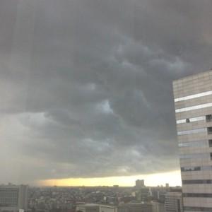 langit hujan